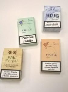 rekwizyty - papierosy no name paczki